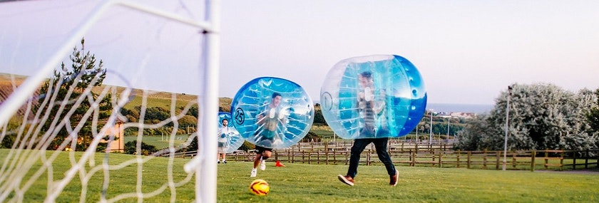 Bubble Football in Prague Stag Do