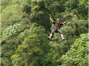stag party zip lining