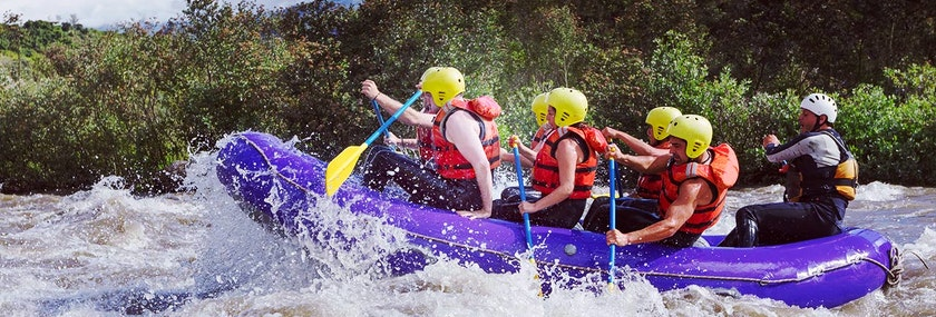 White Water Rafting in Cardiff Stag Do