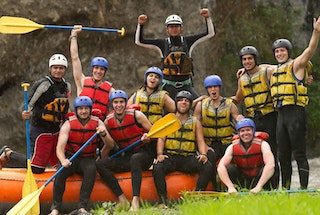 White water rafting package