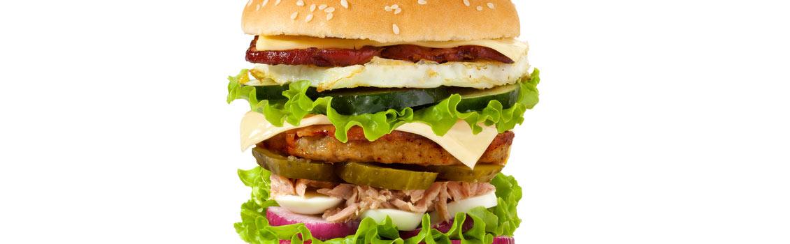 food challenge with burgers